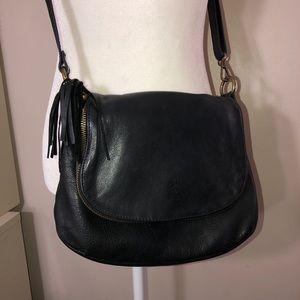 VERA PELLE Leather Crossbody Bag Adj Strap Italy